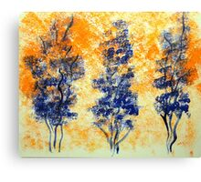 Trees in Blue Canvas Print
