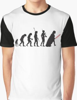 Human evolution Star wars Graphic T-Shirt