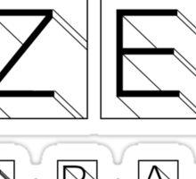 Captain Zep - Space Detective (black text) Sticker