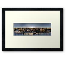 SUNSET OWER THE RIGA, panorama, Riga, Latvia Framed Print