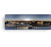 SUNSET OWER THE RIGA, panorama, Riga, Latvia Canvas Print
