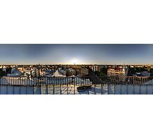 SUNSET OWER THE RIGA, panorama, Riga, Latvia Photographic Print