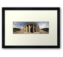 The Cabinet of Ministers of the Republic of Latvia, Riga panorama Framed Print