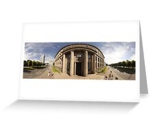 The Cabinet of Ministers of the Republic of Latvia, Riga panorama Greeting Card