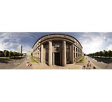 The Cabinet of Ministers of the Republic of Latvia, Riga panorama Photographic Print