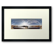 Way to the Stockholm. Riga, Latvia Framed Print