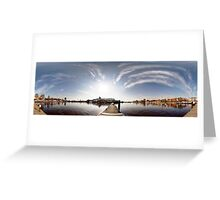 Way to the Stockholm. Riga, Latvia Greeting Card