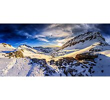 Beautiful sunset view of the Alps Mölltaler Gletscher Photographic Print