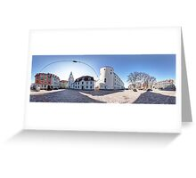 Riga Castle panorama, Riga, Latvia Greeting Card