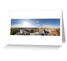 From the birds eye panorama, Riga, Latvia Greeting Card