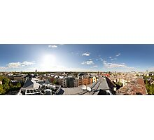 From the birds eye panorama, Riga, Latvia Photographic Print