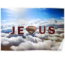 Jesus Superman Poster
