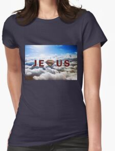 Jesus Superman Womens Fitted T-Shirt