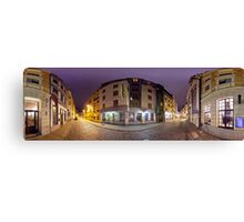Two ways out panorama, Riga, Latvia Canvas Print
