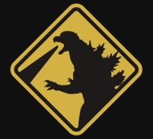 Beware of Japanese Monsters Road Sign by eZonkey