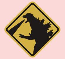 Beware of Japanese Monsters Road Sign Kids Tee