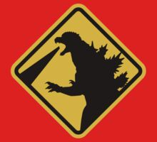 Beware of Japanese Monsters Road Sign One Piece - Short Sleeve