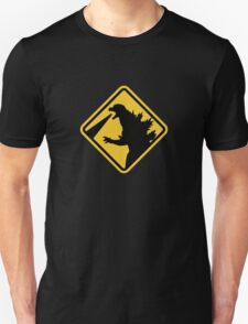 Beware of Japanese Monsters Road Sign Unisex T-Shirt