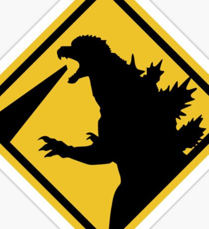 Beware of Japanese Monsters Road Sign Sticker