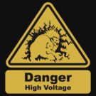 Blanka High Voltage Sign - Street Fighter T-Shirt and Stickers  by eZonkey