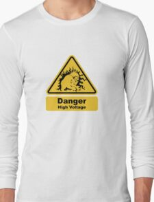 Blanka High Voltage Road Sign from Street Fighter Long Sleeve T-Shirt