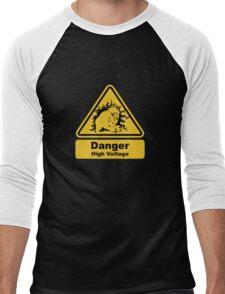 Blanka High Voltage Road Sign from Street Fighter Men's Baseball ¾ T-Shirt