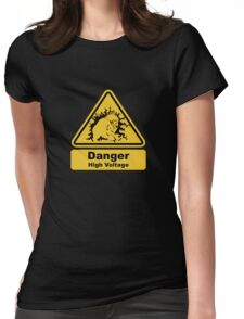 Blanka High Voltage Road Sign from Street Fighter Womens Fitted T-Shirt