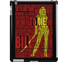 Kill Bill redux iPad Case/Skin