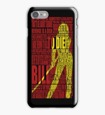 Kill Bill redux iPhone Case/Skin