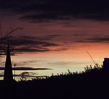 red sky at night by Gins412