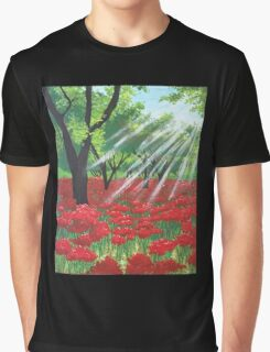 Red Field  Graphic T-Shirt