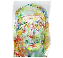 HENRY MILLER watercolor portrait.1 Poster