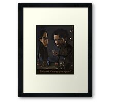 Robb and Talisa (Mild Spoiler Alert) Framed Print