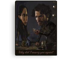 Robb and Talisa (Mild Spoiler Alert) Canvas Print