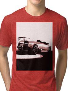 Lambourghini Rear View  Tri-blend T-Shirt