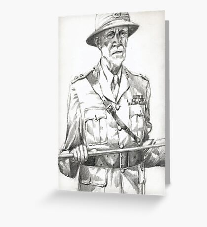 Army Officer Greeting Card