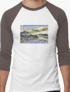 'Landscape of Ryukyu' by Katsushika Hokusai (Reproduction) Men's Baseball ¾ T-Shirt
