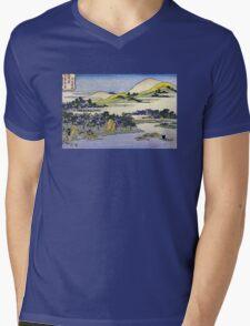 'Landscape of Ryukyu' by Katsushika Hokusai (Reproduction) Mens V-Neck T-Shirt