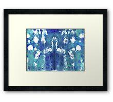 VISION IN BLUE MANDALA Framed Print