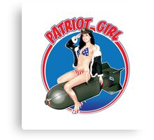 The Patriot Girl USA Canvas Print