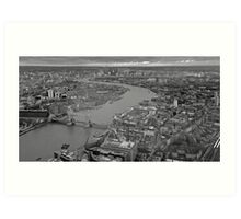 River Thames monochrome Art Print