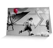 100th Red Balloon - Colour Splash Greeting Card