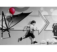 100th Red Balloon - Colour Splash Photographic Print