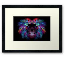 Fractal - Christ - Angels Wings Framed Print