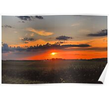 Sunset in Wisconsin Poster
