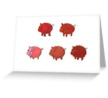 Pigs made of Pork Products! Greeting Card