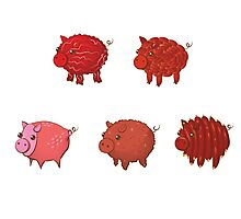 Pigs made of Pork Products! Photographic Print