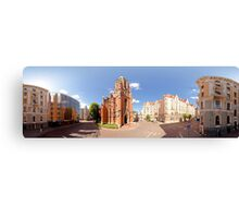 St. Gertrude Old Church panorama in Riga, Latvia Canvas Print