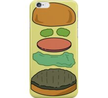 """""""Deconstructed Burg"""" Deconstructed Burger Hamburger Lettuce Tomatoes Foodie Food Humor Silly Funny Pickles Bun iPhone Case/Skin"""