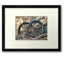 Old Discarded cart VRS2 Framed Print